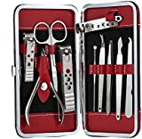 Stainless Steel Personal care Manicure Pedicure Ear pick Nail-Clippers Set 10 in 1