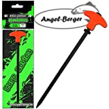 Angel Berger Erdnagel Zelthering Zeltnagel T-Pegs Karpfenzelt Carptackle Fluo Rot