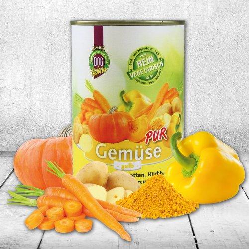 DOGREFORM Gemüse pur - gelb rein vegetarisch ideal zum Barfen/Schonkost 3 x 410g