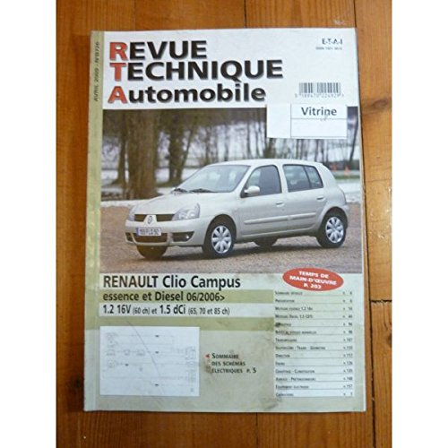 Rta-revue Techniques Automobiles - Clio Campus 06- Revue Technique Renault Etat - Comme Neuf sous film Origine par RTA