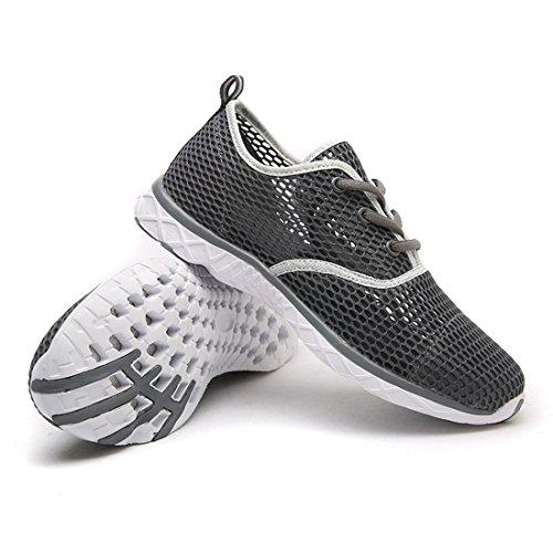 SEVENWELL Herren Wasser-Schuhe der Breathable Ultra Heller Beleg auf Gehendem Schuh Für Den Fischen-Strand Im Freien Dunkelgrau 7 D(M) US= EU 39