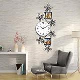 VariWallClock Wall Clocks Wanduhr, Familie, Pendel, Fotorahmen, aus Schmiedeeisen, Modernes Art-Deco Wohnzimmer Stilvoll gehängt an der Wand La