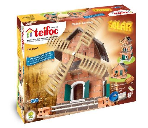 Teifoc - 2042828 - Jeu De Construction En Briques - Moulin Solaire