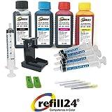 Kit di ricarica per cartucce d' inchiostro HP 301, 301XL nero e colore, Inchiostro di alta qualità con clip e accessori