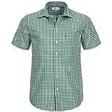 Almsach Kurzarm Trachtenhemd in Dunkelgrün, Größe:L, Farbe:Dunkelgrün