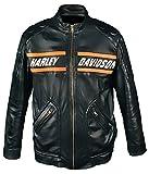 Leatherly Herren Jacke Bill Goldberg Schwarze Biker Style Motorrad Leder Jacke-4XL