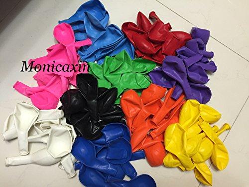 Monicaxin 100(10 colori x 10pc) palloncini in lattice in vivaci colori assortiti 11 pollici / 28cm pacco da 100 (10 colori x 10pc.colori assortiti 11