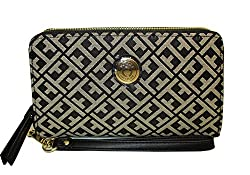 Tommy Hilfiger Wristlet Black Womens Clutch Wallet