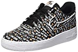 NIKE Herren Air Force 1 '07 Lv8 JDI Sneakers, Mehrfarbig Black/White/Total Orange 001, 40 EU