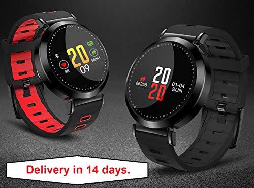 Smart Watch – Smart-Armband M10 IP68 Wtaerproof Sport Armband Fitness Tracker Smartband alle kompatiblen LED Bildschirm Herzfrequenz-Monitor Android iOS, grau