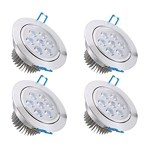Bay 4x 7W Focos LED Empotrables , Techo Ultra delegado Downlight ,...