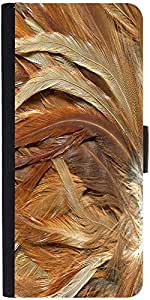 Snoogg Feathers 3 Texturedesigner Protective Flip Case Cover For Lg G2