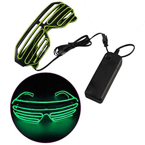 THEE LED Leuchtbrille Leuchten Brille Partybrille Party Club Halloween Karneval Fasching Fastnacht Kostüm mit Batterie - Box Mit Halloween-kostüme