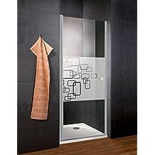 Schulte porte de douche pivotante, paroi en niche, verre décor Softcube,  traitement anti 3b1f8e2d011