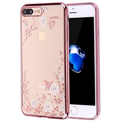 YAN Für iPhone 7 Plus Blumen Muster Galvanisieren Soft TPU Schutzhülle Fall ( SKU : Ip7p5910b ) Ip7p5910e