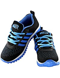 BRiiX Black And SkyBlue Women Running Shoes