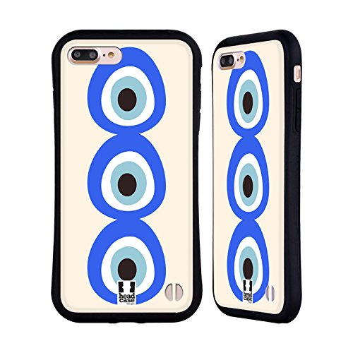Head Case Designs Rythme Mauvais Oeil Étui Coque Hybride pour Apple iPhone 6 / 6s Empilé