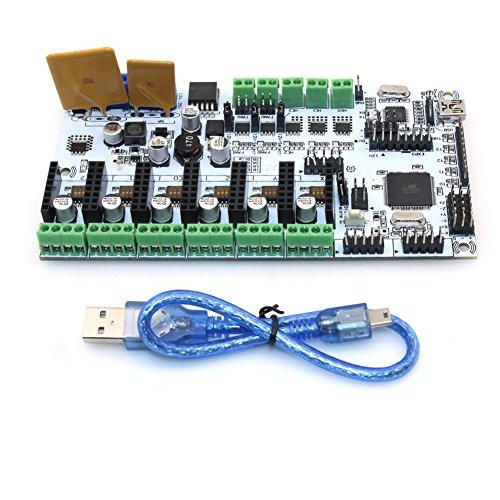 Popprint-Rumba-carte-contrleur-avec-Drv8825-pilote-de-moteur-pas–pas-avec-Drv8825-Dissipateur-thermique-pour-imprimante-3d