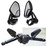 Motorrad Spiegel Lenkerendenspiegel Lenkerenden Aluminium schwarz Stiel verstellbar für Honda