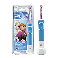 Oral B D100.413.2K FROZEN,Oral B Vitality D100 Rechargeable Kids 3+ Years Tooth brush Disney Frozen, White/Sky Blue,