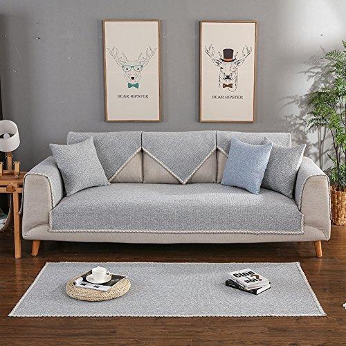 Möbeldecken protektoren für kinder und haustiere Sofa abdecken aller vernunft Baumwolle und leinen sofa slipcover Volltonfarbe Moderne einfache haustiere couch decken-M 28x83inch(70x210cm) (Couch Loveseat Liege)