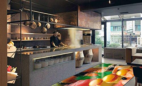 Restaurant Bistro Pizzeria Vinyl PVC Teppich Aufkleber Fliesen Wand Kunst Bild live lebendige 200cm x 400cm x 1.5mm (Pizzeria Dekor)