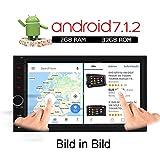 A-Sure 2GB RAM 32GB ROM 7 Zoll Android 7.1.2 Autoradio 2 Din Navigation GPS Unterstützt DAB+ DVR OBD DVB Box 4G Bluetooth Wifi 180mm X 105mm Auto Navi USB MicroSD Universal SH023J 2-Jahre-Garantie