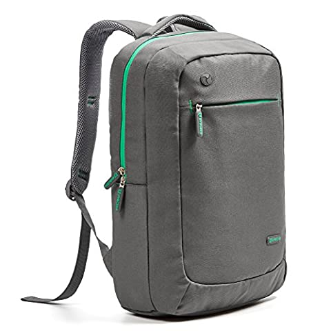 Evecase 15.6 inch Laptop Backpack, Lightweight Nylon Water Resistant Multipurpose Notebook Chromebook Macbook Ultrabook Bag for up to 15.6 Inch Apple, Acer, ASUS, Lenovo, Dell, HP - Grey