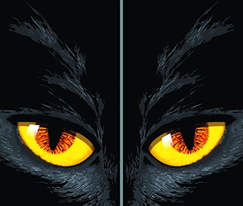 WOWindow Posters Yellow-eyed Cat Halloween Window Decoration Two 34.5x60 Backlit Posters by WOWindow Posters (Halloween Poster Wowindows)