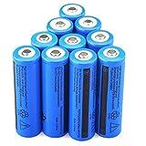 HKFV 10PCS 3.7V 5000mAH Lithium-Ionen-Akku 18650 Akku für Taschenlampe 10 18650 Batterien 65mm x 18mm