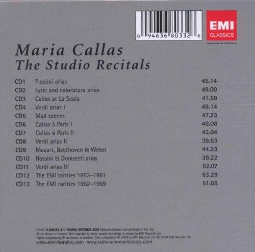 Maria Callas : The Studio Recitals (Coffret 13 CD)