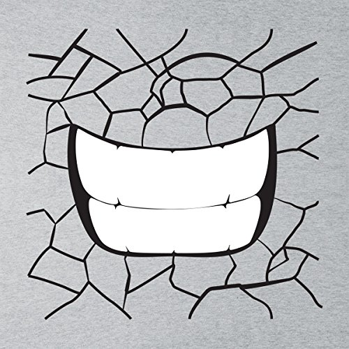 Cracking Rock Facial Smirking Mouth Men's Vest Heather Grey