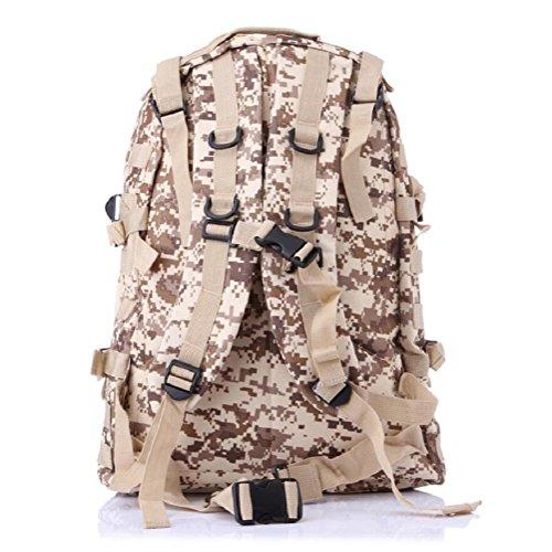 Z&N Backpack Borsa militare campeggio outdoor alpinismo sport spalle zaino camouflage zaino tattico militare uomini e donne grande capacità 40L portatile all'apertocp40L desert