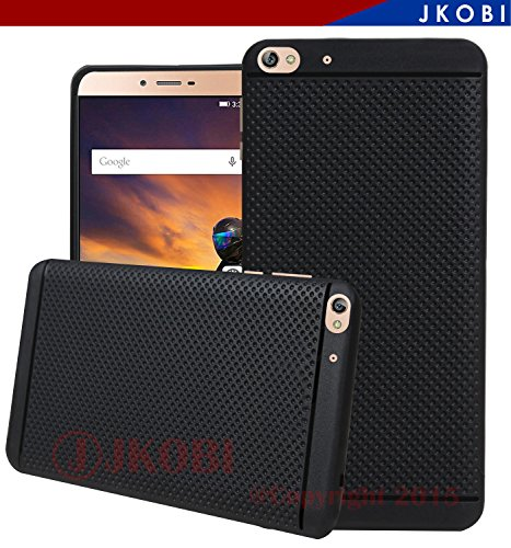 Jkobi Classic Dotted Designed Soft Rubberised Back Case Cover For Gionee S6 -Black
