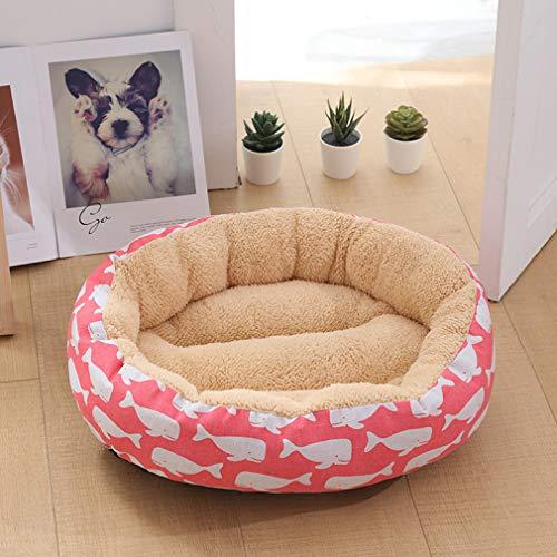 AMURAO Mode Druckbett für kleine mittlere Hund warme rutschfeste Haustierdecke Indoor Herbst Winter Cord - Groß Pet-kiste-tisch