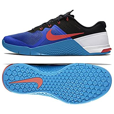 Nike Mens Metcon 2 Synthetic Trainers (10. 5 D(M) US, Racer Blue/Bright Crimson/Blue Glow/Black)