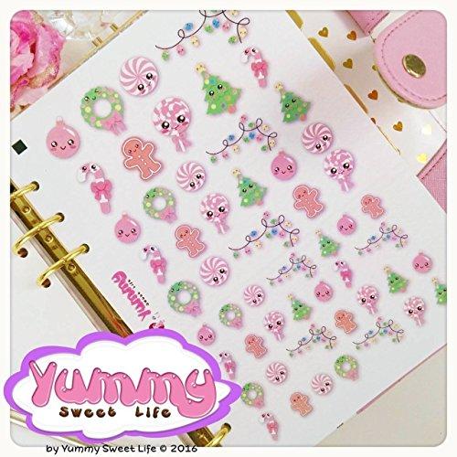 2-fogli-di-adesivi-stickers-a5-natalizi-kawaii