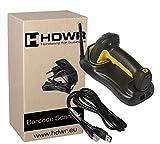 2.4G drahtlos 1D/2D IP65 Industriefallschutz, Barcode-Scanner Induktive Ladung, QR-Code, Aztec, Maxicode , Data Matrix HDWR HD-SL99
