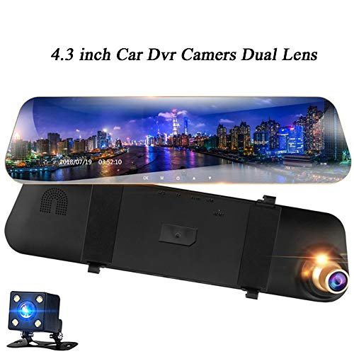 Digital Auto-kamera-dvr (Hadeyicar DVR Kamera Auto Full HD 1080P Digital Video Recorder yi intelligente DashCam Dual Kamera Auto Kamera Detektor Fahren Recorder DVR)