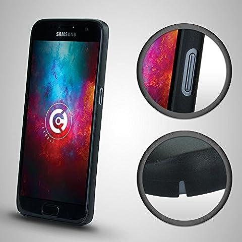 cTRON21® Hülle für Samsung Galaxy S7 Schutzhülle Ultra Slim Case 0,3 mm hardcase handyhülle hard Cover Bumper Tasche Schwarz