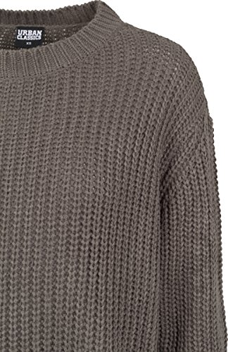 Urban Classic Damen Pullover Ladies Basic Crew Sweater Grün (Army Green 1144)
