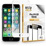 Protector de Pantalla iPhone 7, 3D Pro-Fit Protector de Prima de Cristal Templado de Orzly® [Protección completa de la pantalla para el iPhone 7 - BLANCO [Bordes curvados 3D para mejor ajuste]
