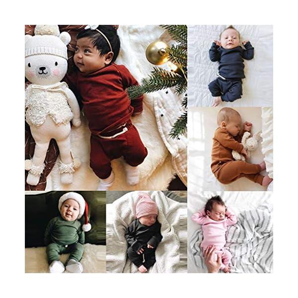 MAYOGO Ropa para bebés Conjunto, Tops Camiseta Manga Largo + Pantalones Largos Color sólido Ropa Bebe Recien Nacido… 2