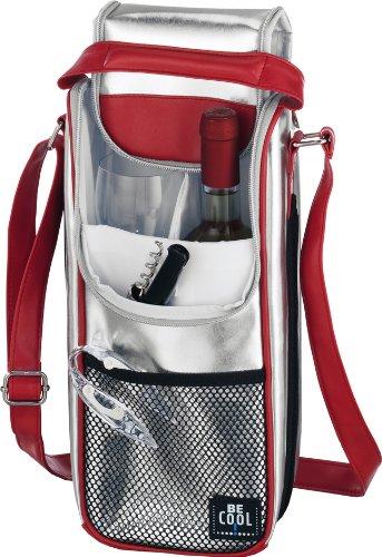 Be Cool Kühltasche - Bottle Bag, silber/rot 2,0 l - Medikamenten-flasche