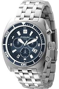 Zodiac - ZO4500 - Montre Homme - Chronographe - Quartz Analogique - Dateur - Bracelet Acier