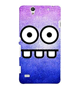 Fuson 3D Printed Cartoon Designer back case cover for Sony Xperia C4 - D4517