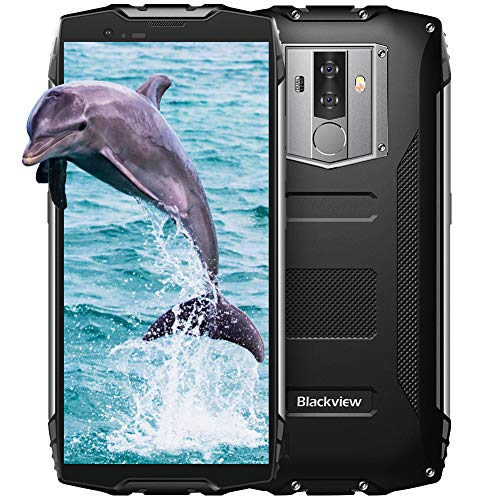 Blackview BV6800 Pro Outdoor Handy 6580mAh Große Batterie mit IP68 Wasserdicht, 16MP + 8MP Dual Kameras 64GB interner Speicher, 18:9 FHD+ 5.7 Zoll Display Android 8.0 Smartphone NFC GPS Schwarz