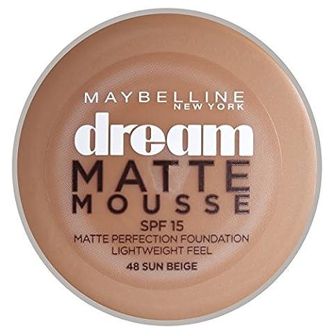 Gemey Maybelline Dream Matte Mousse Fond de Teint N°48 Beige Ensoléillé