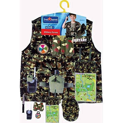 Dress Up America Kinder Military Forces Rollenspiel Ankleiden Set