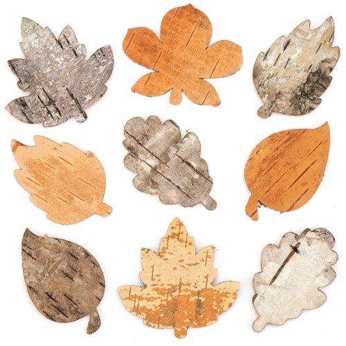 Baker Ross Hojas de corteza de árbol para decoraciones y manualidades infantiles...